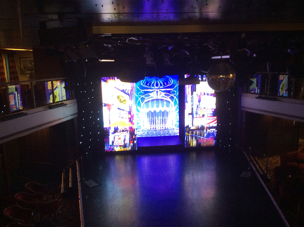 AV Services – Cruise ship lighting | LED wall